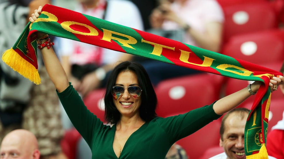 A Portugal fan enjoy the atmosphere during their UEFA EURO 2012 quarter-final against the Czech Republic