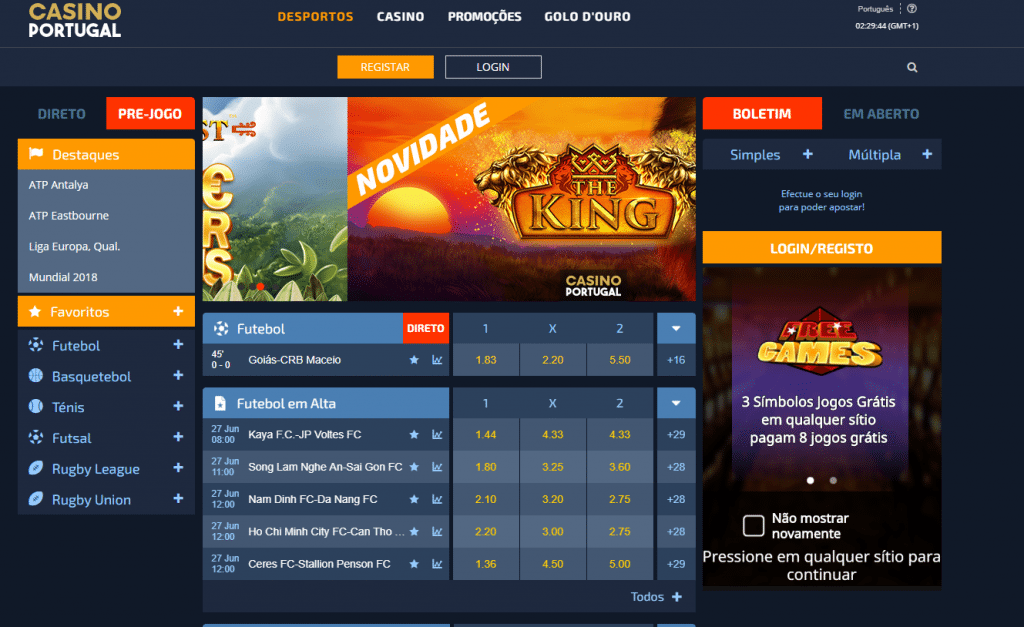 Casino bonus portugal